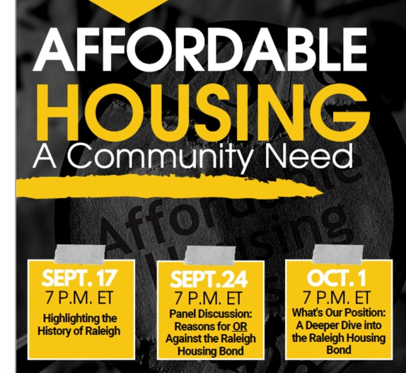 "Carmen Cauthen's ""History of Housing in Raleigh"" is context for tomorrow night's ""Affordable Housing Bond: The Great Debate"""
