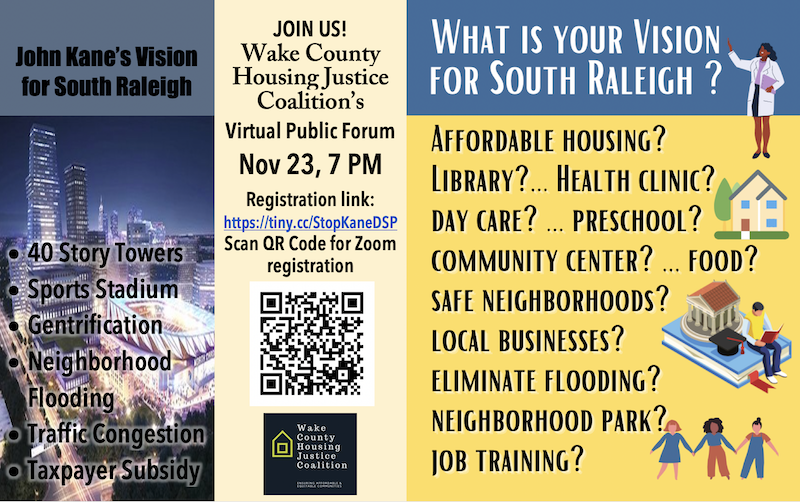 A Virtual Meeting Monday Night: What Does the Community Want Downtown South to Be?