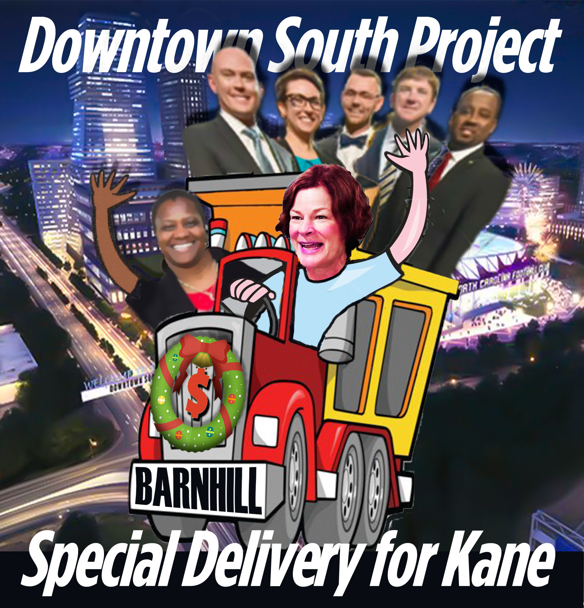 "Baldwin & Council majority set surprise Dec. 15 public hearing on Kane's ""Downtown South"" scheme: Fast-track to approval?"