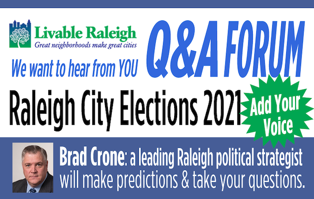 Raleigh City Elections 2021 – Q&A Forum