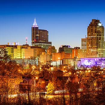 Image Raleigh skyline.