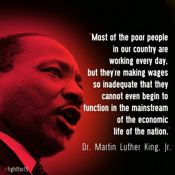 Dr. King's Unfinished Work: Economic Justice