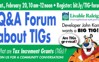 What Are Tax Increment Grants? (TIGs) A Community Conversation