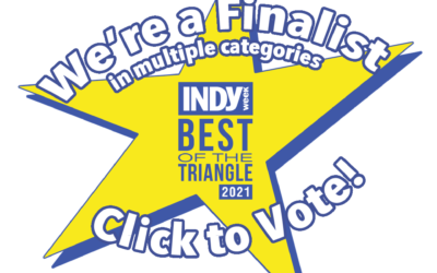 INDY Week's 2021 Best Of the Triangle – We're Finalists !!