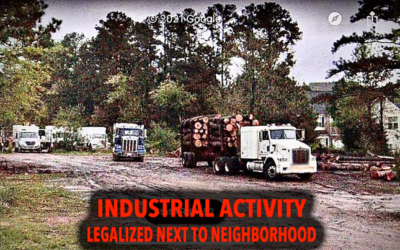 Neighbors 'shocked' as Nicole Stewart justifies legalizing noxious industrial use next to their homes.