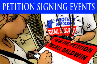 Recall Petition Signing Events